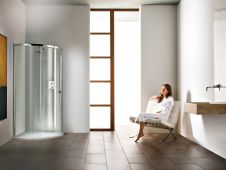 Matki New Radiance Curved & Offset Curved Corner Surround with Slimline shower tray