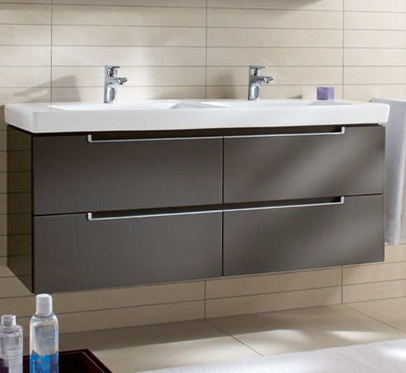 How Much To Have A Bathroom Fitted: Villeroy & Boch Subway 2 1300 Double Drawer Vanity Units